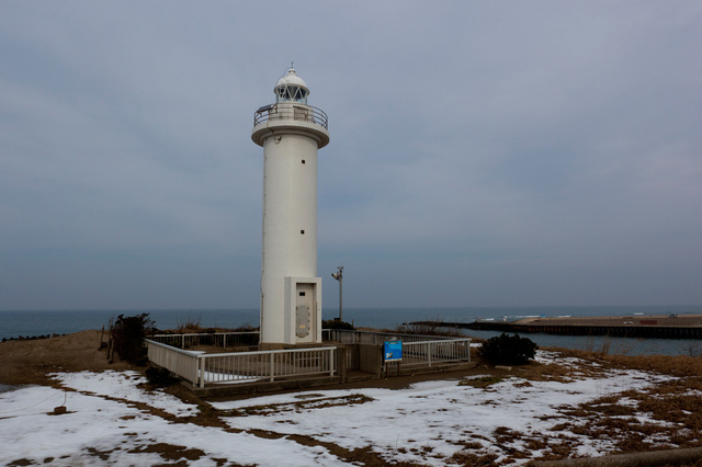 安宅灯台(冬の再訪)