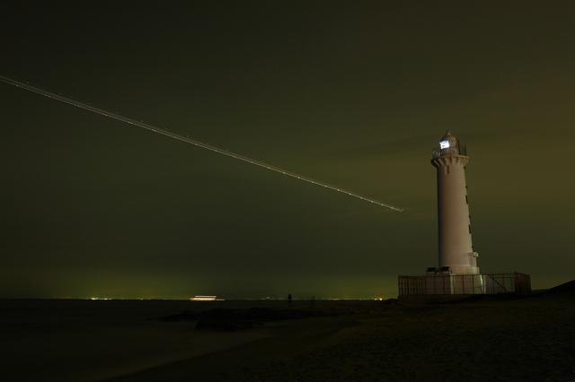 野間埼灯台~夜景から