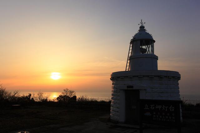 立石岬灯台(夕日)